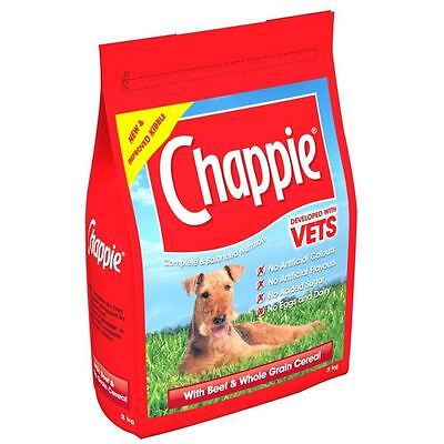 Chappie Complete Dog Food - Beef & Cereal - Dry - 3Kg