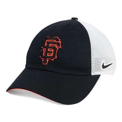 Giants Mlb Mesh (San Francisco Giants Nike MLB Dri-Fit Mesh Swoosh Adjustable Baseball Cap Hat SF )
