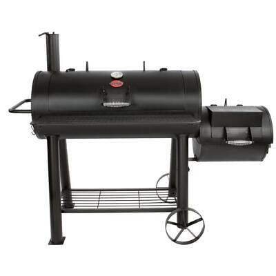 Offset Charcoal / Wood Smoker Free Standing W/ Shelf Outdoor