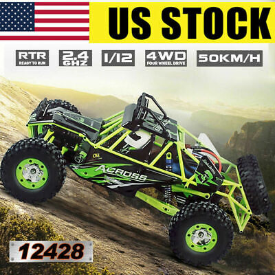 US Wltoys 12428 1/12 2.4G 4WD Electric Brushed Crawler RTR RC Car Toys