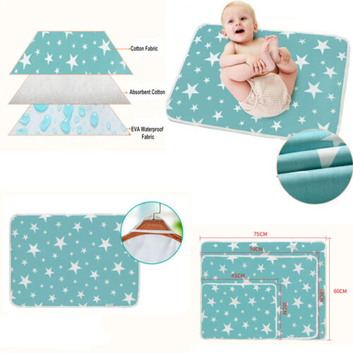 baby cotton urine mat infant 3 sizes waterproof bedding chan