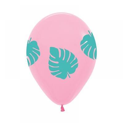 Party Supplies Birthday Tropical Pool Aloha Pink Palm Balloons Pk 10