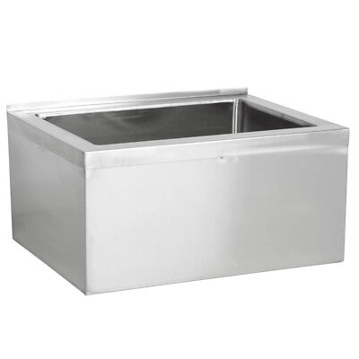 33 Stainless Steel Nsf One Compartment Floor Mop Sink - 28 X 20 X 6 Bowl