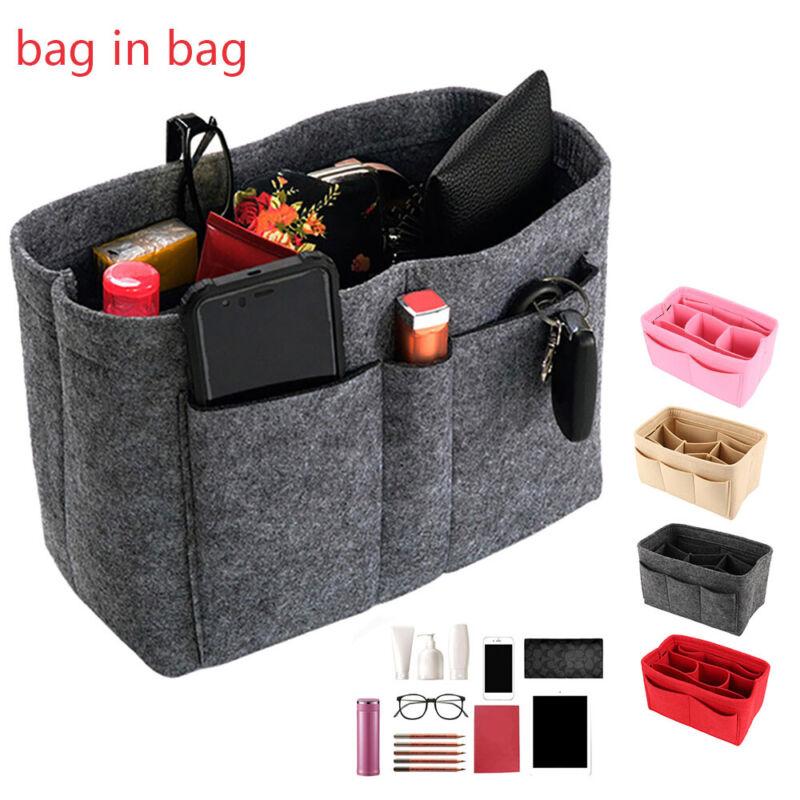 Damen Organizer Filz Innentasche Insert Bag kosmetik Liner Handtasche Taschen