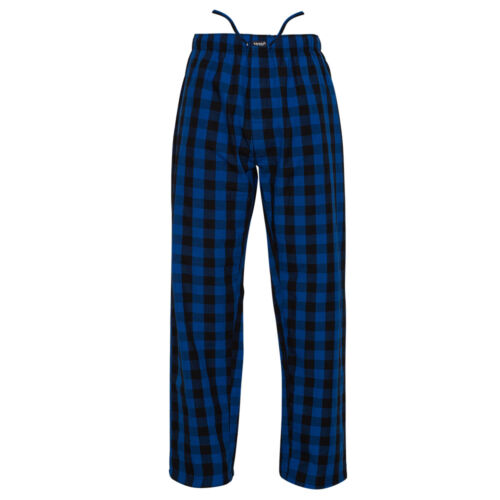 Ritzy Men/Kids/Boys Pajama Pants 100% Cotton Plaid Woven Poplin - BL & BK Checks