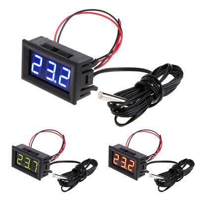 Dc 5v-12v Led Digital Thermometer -50110f Fahrenheit Temperaturetemp Probe