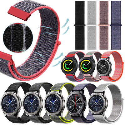 Quick Release Nylon Canvas Loop Strap Band For Samsung Gear S2 S3 Sport Watch