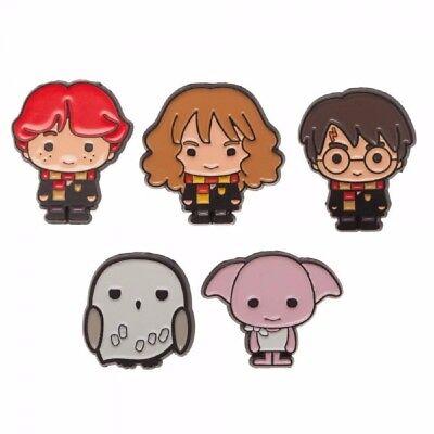 Harry Potter Characters 1″ Tall Metal Enamel Costume Set of 5 Pins - Harry Potter Character Costume