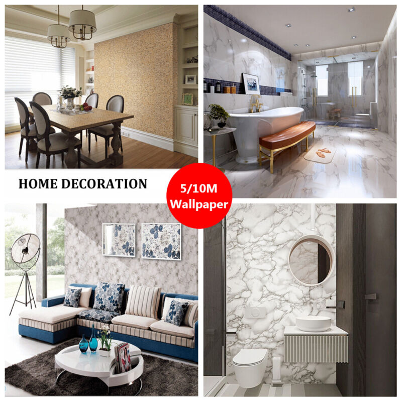 Details about Furniture Refurbished Kitchen Cabinets Wallpaper Marble Self  Adhesive Stickers