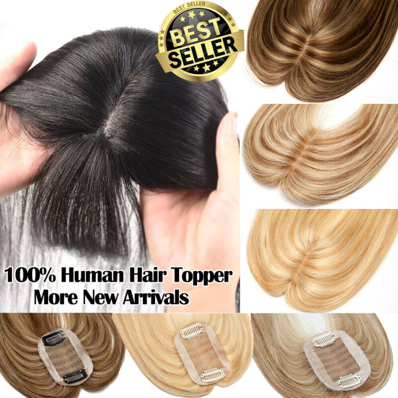 Remy Human Hair Topper For Women With Thinning Hair Silk Mon