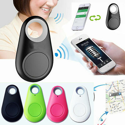 Bluetooth Smart Mini Tag Tracker Pet Child Key Finder GPS Locator Alarm Black