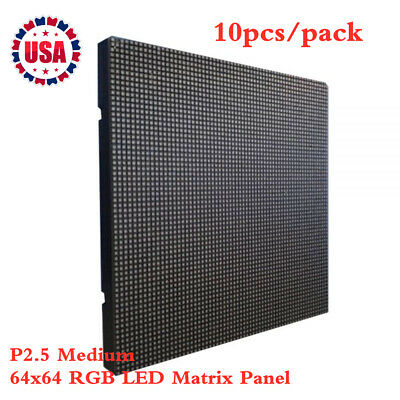 10pcspack Indoor Led Display P2.5 Medium 64x64 Rgb Led Matrix Panel Us Stock