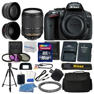 Nikon D5300 Digital SLR Camera 3 lens: 18-140mm VR + 16GB + More Great Value Kit