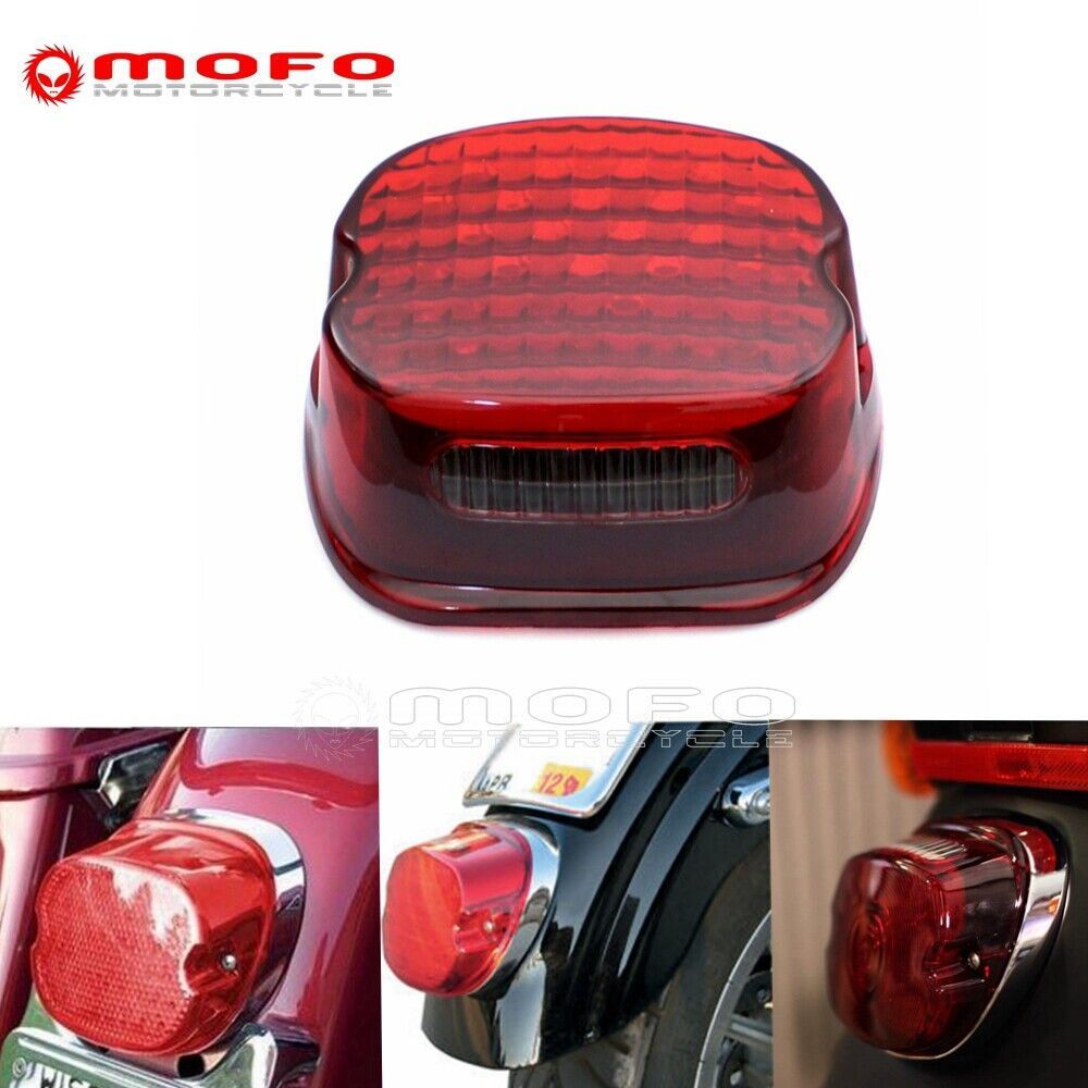 Details about Red LED Low Profile Taillights ke Lamp For Harley Touring on