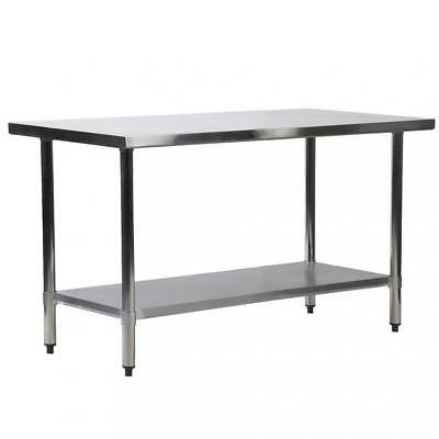 """30""""x60"""" Stainless Steel Kitchen Work Table Commercial Kitchen Restaurant table"""