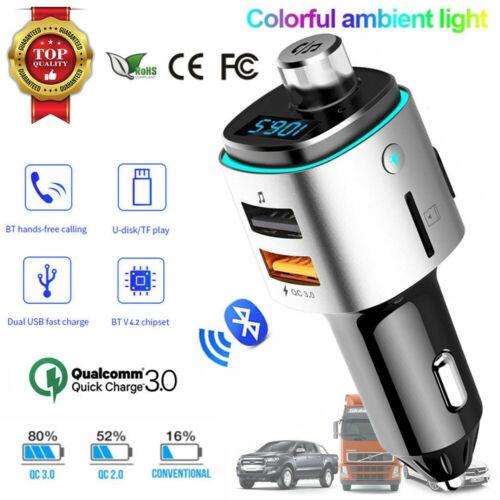 Bluetooth FM Transmitter MP3 Radio Handsfree Adapter Car Kit
