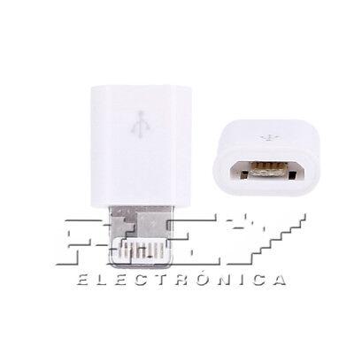 Adaptador-Conversor Micro USB Valido para IPhone, IPad, Color Blanco i181