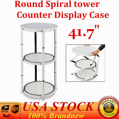 41.7 Round Spiral Counter Trade Show Display Twister Tower Case Shelves Panels
