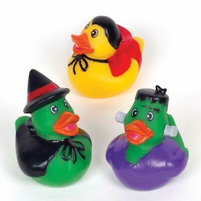 Halloween Children's Arts And Crafts (Baker Ross AW941 Rubber Ducks Pack of 4 -Spooky Arts and Crafts for)