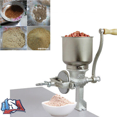 Mill Manual - Manual Coffee Grinder Flour Mill Hand Grinding Machine Feed Corn Nuts Palm Crank