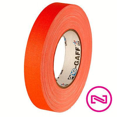 Protapes Pro Gaff Neon Orange Gaffers Tape 1 X 50 Yd Roll