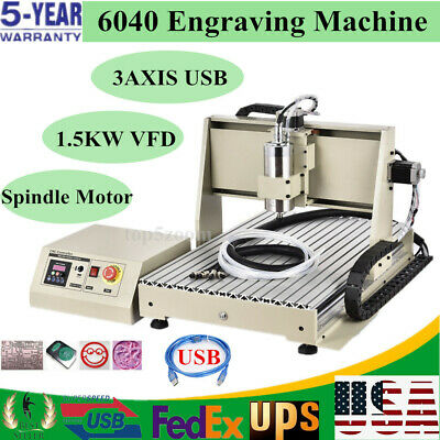 Usb 3axis Cnc 6040z Router Engraver Engraving Machine Woodworking Cutting Miller