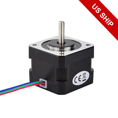 Nema 17 Stepper Motor 1.8deg 36.8oz.in 0.4a 12v 4 Wires 1m Cable Diy 3d Pinter