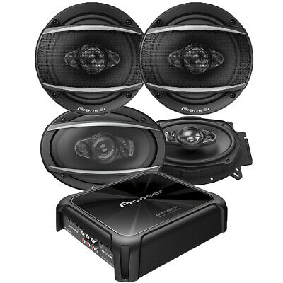 Pioneer Car Audio Packages 4-Channel Amp 1200W+6.5
