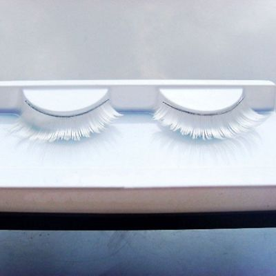 Lash Feather Handmade Eyelash Fake Eyelashes White False Eyelashes Long Makeup - Feather Fake Eyelashes
