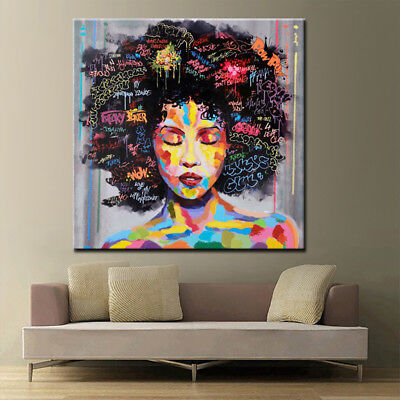 Abstract Indian Woman Canvas Oil Painting Print Picture Home Wall Art Decor 60cm