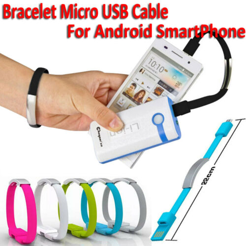 22CM Bracciale Cellulare Cavi Micro USB Cavo dati ricarica per Samsung HTC LG