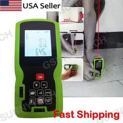 100m Digital Lcd Laser Distance Meter Range Finder Measure Diastimeter Level