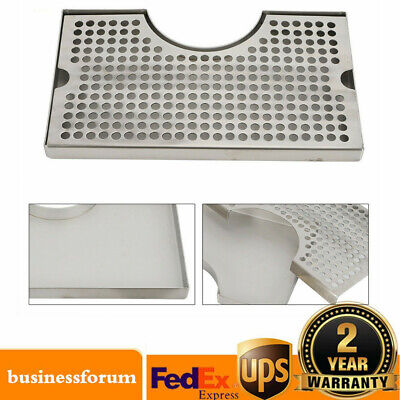 Removable Kegerator Tap Draft Beer Drip Tray Stainless Steel Polished Usa Stock