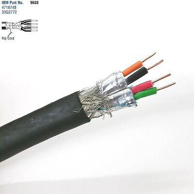 10' Belden 9688 2 Pair 22AWG SOLID Shielded Pair, IBM Type 1A Token Ring Cable ()