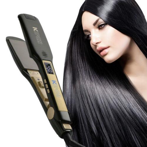 Flat Iron Hair Straightener KIPOZI 1.75in. Wide Plate Titani