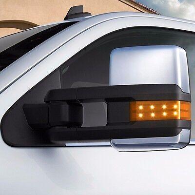 07-13 Silverado  Power Heated Chrome Towing Mirrors Backup Lamp  LED Signal Pair
