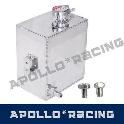 Universal Polished Aluminum Radiator Coolant Overflow Expansion Tank Bottle