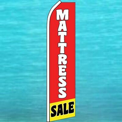 Mattress Sale Flutter Flag Tall Curved Advertising Sign Feather Swooper Banner