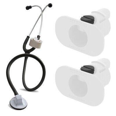 2 Pack Of White S3 Stethoscope Tape Holders - Littman Nursing Scrubs Ems Emt