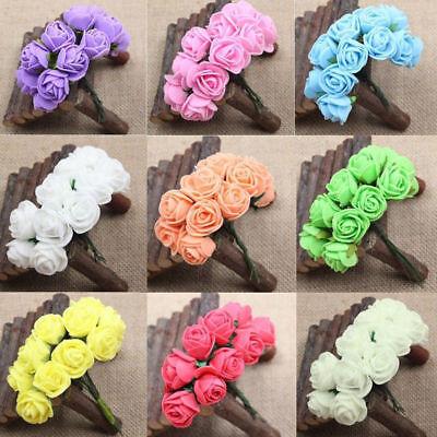 144pcs/lot Mini Foam Rose Artificial Flower Rose Bouquet Wedding Decor Craft US