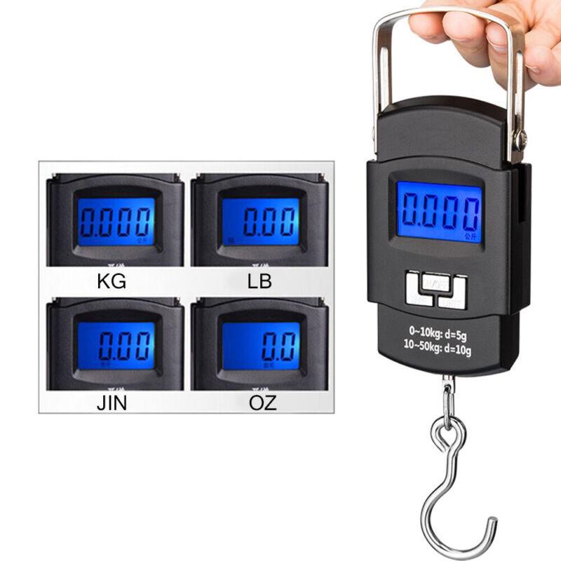Digitale Kofferwaage Gepäckwaage Hängewaage LCD Reisewaage Handwaage bis 50 KG