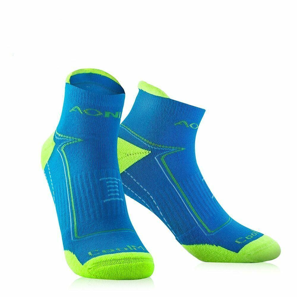 Men Cycling Quarter Compression Socks Sport Running Athletic