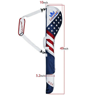 507d9e6e50b Authentic Golf Club Case Sunday Bag Range Carry Travel Golf Iron Carry USA  Flag