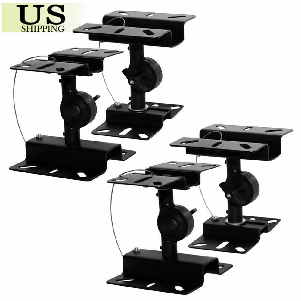 Details About 4 Pack Heavy Duty Speaker Wall Ceiling Mount Brackets Surround Sound 44lb Strong