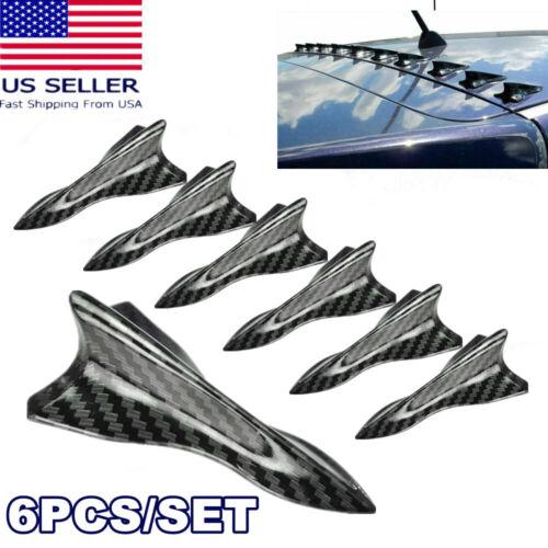 Car Parts - Parts Accessories Car Funny Stickers Carbon Fiber Shark Fin Roof Spoiler Decals-