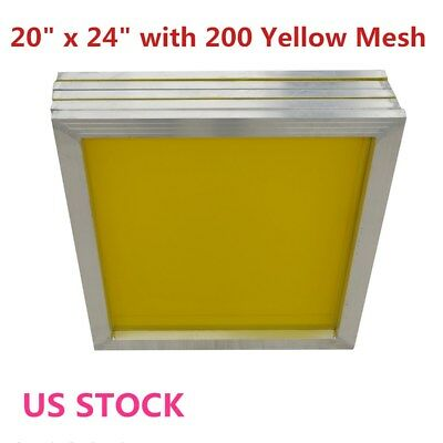 6 Pack 20 X 24 Aluminum Frame Silk Screen Printing Screens 200 Mesh - Us Stock