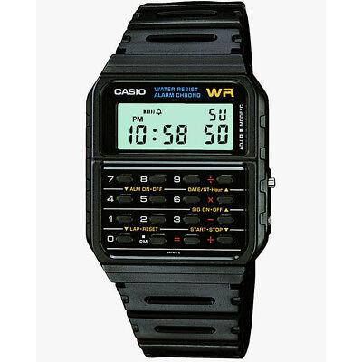 Casio Calculator Wrist Watch Water Resistant Black Resin Strap CA53W/1ER Retro
