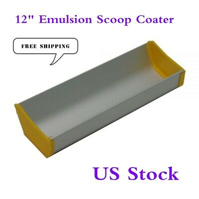 Us Stock Aluminum 12 Emulsion Scoop Coater Tool For Silk Screen Printing Press