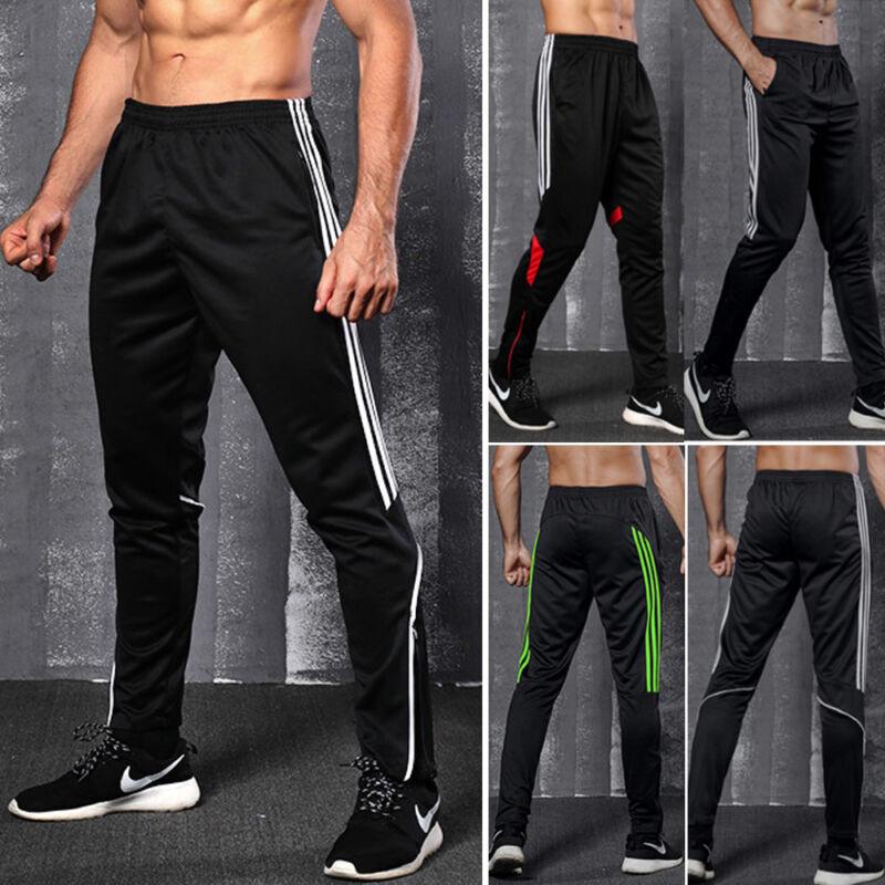 Mens Sports Pants Sweatpants Pocket Quick Dry Fitness Gym Tr