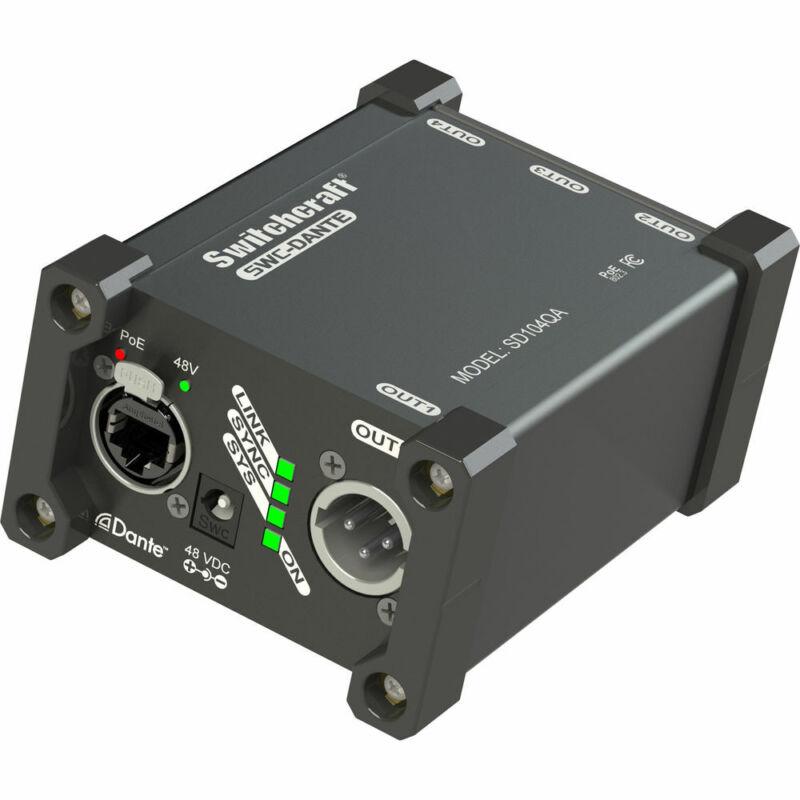 Switchcraft SD104QA 4-Channel Dante Output Box